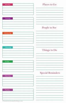 weekly planner template 2020 printable weekly planner template printable calendar