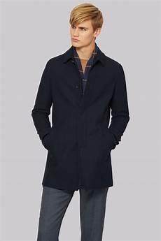 coats slimfit connection slim fit navy car coat