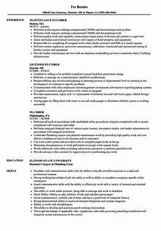 Plumbing Resume Samples Plumber Resume Samples Velvet Jobs