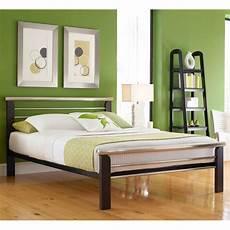 oslo iron bed silver merlot finish contemporary design