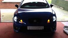 Seat Leon Mk2 Rear Lights Leon Mk2 Led Drl Indicator Youtube