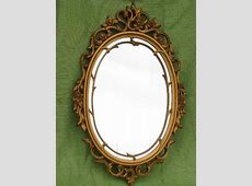 vintage Syroco ornate gold frame w/ mirror, french country