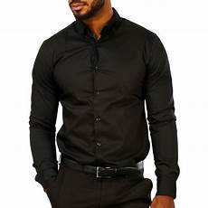 mens black dress shirts sleeve brilliant basics s sleeve shirt black big w