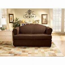 2 Sofa And Loveseat Slipcover 3d Image by Sure Fit Stretch Suede T Cushion Two Loveseat