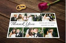 Wedding Thank You Postcard Template Wedding Thank You Card Templates Psd Wedding Templates