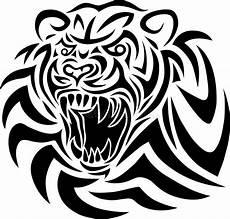 tiger tribal stock vector illustration of animal sketch