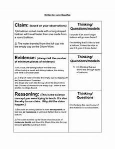 Wsib Claim Type Chart Claim Evidence Reasoning Chart By Maguffee Tpt