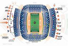 Auburn University Football Stadium Seating Chart Jordan Hare Stadium Seating Chart Visitors Section Www