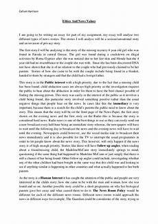 Moral Essay Ethics And News Values Essay