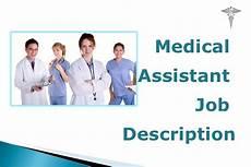 Medical Assistant Job Medical Assistant Job Description