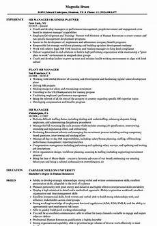 Human Resources Manager Resume Examples Resume Sample For Hr Manager Sample Templates
