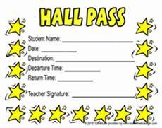 Hall Pass Template Printable School Hall Pass Templates