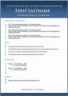 Ms Word Resume Templates Free 50 Free Microsoft Word Resume Templates For Download