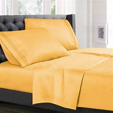 size bed sheets set yellow luxury bedding sheets set