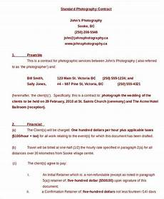 Standart Contract Photography Contract Example 17 Free Word Pdf Documents