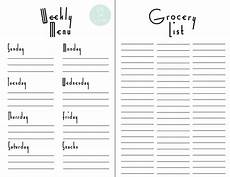 Meal Planning Grocery List Template 28 Free Printable Grocery List Templates Kittybabylove Com
