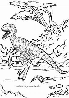 Dinosaurier Ausmalbilder Triceratops Malvorlage Velociraptor Dinosaurier Ausmalbilder