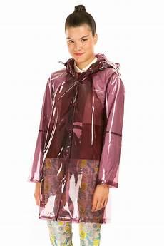 plastic coats for opening ceremony mesh lined zipped vinyl coat