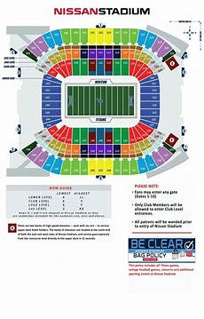 Titans Stadium Seating Chart Tennessee Titans Seating Chart Tennessee Tennessee