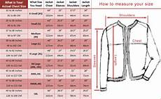 Nomis Jacket Size Chart Jacket Measurement Guide With Size Chart Fashion2apparel