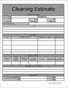 Cleaning Service Estimate Template Free Wide Row Home Cleaning Service Estimate From Formville