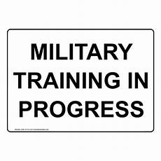 Training In Progress Sign Military Training In Progress Sign Nhe 37314