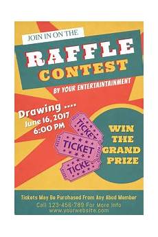 Raffle Ticket Poster Ideas Customize 710 Contest Poster Templates Postermywall