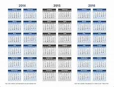 Multi Year Calendar 3 Year Calendar Template For Excel