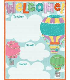 Welcome Chart For Classroom Up And Away Welcome Chart