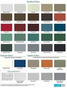 Firestone Sheet Metal Color Chart Berridge Colors Berridge Manufacturing Co