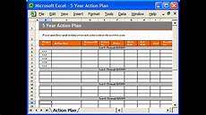 Excel Plan Template Action Plan Template Excel Youtube