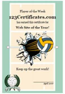 Volleyball Certificate Templates Printable Volleyball Certificates And Volleyball Award