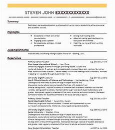 Primary School Teacher Resumes Primary School Teacher Resume Sample Teacher Resumes