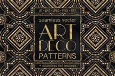 Art Deco Vector Geometric Art Deco Patterns 20 Seamless Vector Patterns