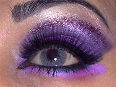 makeup safira purple glitter makeup look