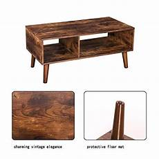 Hoobro End Table Rustic Side Table With 3 Tier Shelf by Hoobro Coffee Table Accent Cocktail Table With Storage
