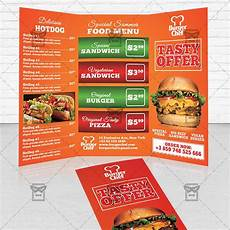 Food Brochure Templates Fast Food Premium Tri Fold Brochure Template