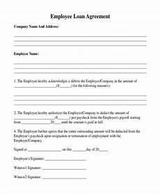 Employee Agreement Form Free 12 Sample Loan Agreement Forms In Pdf Doc