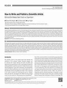 How To Write Copyright Pdf How To Write And Publish A Scientific Article