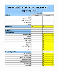 Personal Budget Spreadsheet Free Free Personal Budget Template 7 Free Excel Pdf