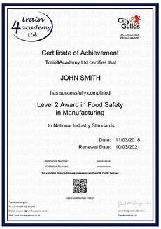 Level 2 Food Safety Questions Food Safety Certificate Level 2 In Manufacturing