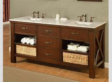 """72"""" Rustic Vanity Combo with 3cm White Quartz Top   Home Center Outlet"""