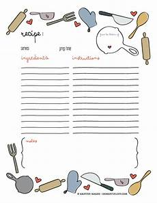 recipe card template for pages of giving free printable recipe page template