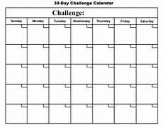30 Day Calendar 30 Day Challenge Calendar Basic Growth