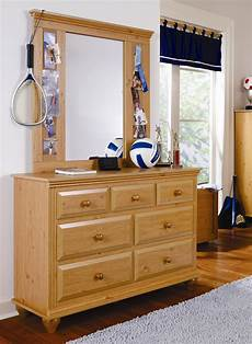 7 drawer dresser with mirror combination by lang