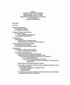 How To Write An Agenda For A Board Meeting 8 Board Meeting Agenda Templates Free Sample Example