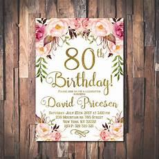 80th Birthday Invitation 80th Birthday Invitation For Women 80th Birthday
