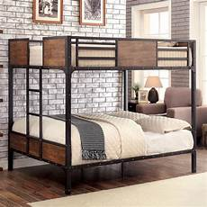 industrial inspired metal size bunk bed