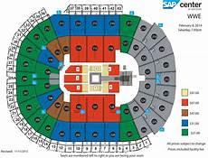 Wwe Dallas Seating Chart Sap Center Wwe Live