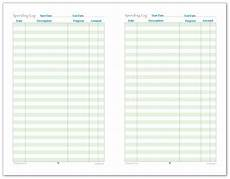 Spending Template Half Size Finance Tracking Printables